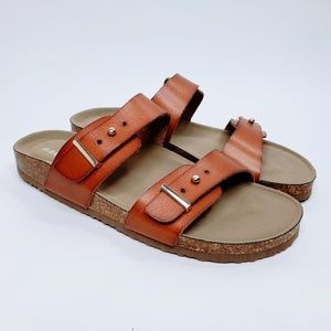 NWOB Madden Girl Bezell Leather Strap Sandals 7.5